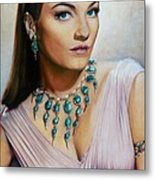 Anne Baxter In Ten Commandments  @ Ariesartist.com Metal Print
