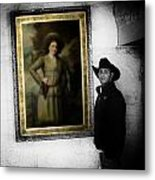 Annie Oakley With A Cowboy Metal Print