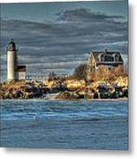 Annisquam Lighthouse From The Beach Metal Print
