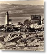 Annisquam Lighthouse Vintage Metal Print