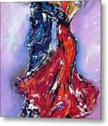 Anniversary Dance Painting  Metal Print