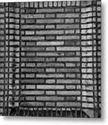 Another Brick In The Wall In Black And White Metal Print