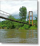 Another Bridge Over River Kwai In Kanchanaburi-thailand Metal Print