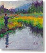 Another Cast - Fishing In Alaskan Stream Metal Print