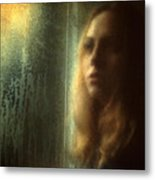 Another Face In A Window Metal Print by Taylan Apukovska