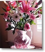 Another Grandma's Pitcher With Flowers Metal Print