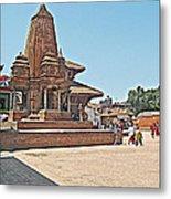 Another Hindu Temple N Bhaktapur Durbar Square In Bhaktapur -nepal Metal Print