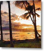 Another Maui Sunset - Pastel Metal Print