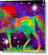 Another Rainbow Stallion Metal Print