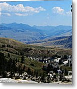 Another View From Mammoth In Yellowstone Metal Print