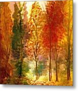 Another View Of Autumn Hideaway Metal Print