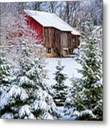 Another Wintry Barn Metal Print