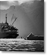 Antarctican Expedition 2013.  Ship Name Metal Print