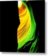 Antelope Canyon Abstract Metal Print