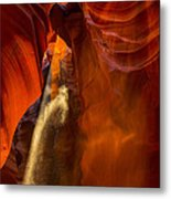 Antelope Canyon - Sand In The Light Metal Print