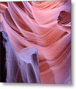 Antelope Canyon Waves Metal Print