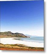 Antelope Island And Utah Vertical Metal Print