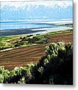 Antelope Island Wasatch Mountains Utah Metal Print