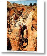 Anthony Howarth Collection - Gold- Re-working Old Mines - S.a. Metal Print