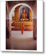 Anthony Howarth Collection - Gold - Saffron And Gold - Burma Metal Print