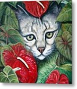 Anthurium Assassins Metal Print