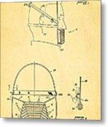 Anti Eating Mask Patent Art 1982 Metal Print by Ian Monk