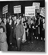 Anti-nazi Germany Parade In Los Metal Print
