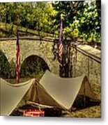 Antietam - 8th Connecticut Volunteer Infantry-a1 Encampment Near The Foot Of Burnsides Bridge Metal Print