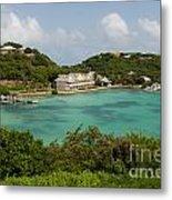 Antigua Long Bay Metal Print