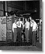 Antiproton Discovery Team Metal Print by Science Photo Library