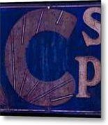 Antique Ac Spark Plug Sign Metal Print