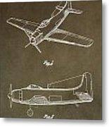 Antique Airplane Patent Metal Print