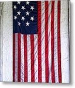 Antique American Flag Metal Print