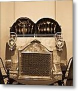Antique Auto In Sepia Metal Print