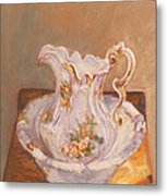 Antique Pitcher And Bowl Metal Print