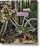 Antique Bike Metal Print