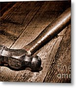 Antique Blacksmith Hammer Metal Print by Olivier Le Queinec