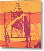Antique Bleriot Airplane  Metal Print