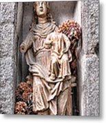 Antique Blessed Virgin Statue Metal Print