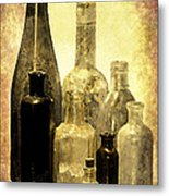 Antique Bottles From The Past Metal Print