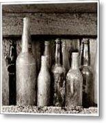 Antique Bottles Metal Print