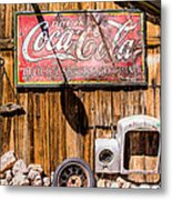 Antique Building At The Techatticup Gold Mine Metal Print