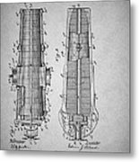 Antique Cannon Patent 1897 Metal Print