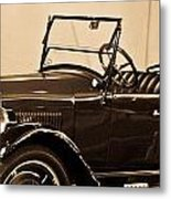 Antique Car In Sepia 1 Metal Print