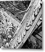 Antique Carved Wood Facade Piece Metal Print