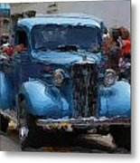 Antique Chevy Truck In Parade Metal Print