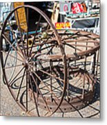 Fayetteville Texas Rings And Wheels Metal Print