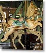 Antique Dentzel Menagerie Carousel Cat Metal Print by Rose Santuci-Sofranko