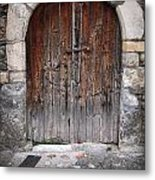Antique Door Wood Metal Print