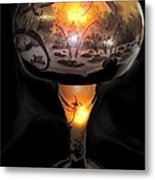 Antique Dragon Fly Lamp Metal Print